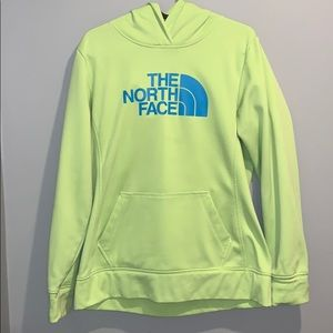 Green and Blue North Face Sweatshirt